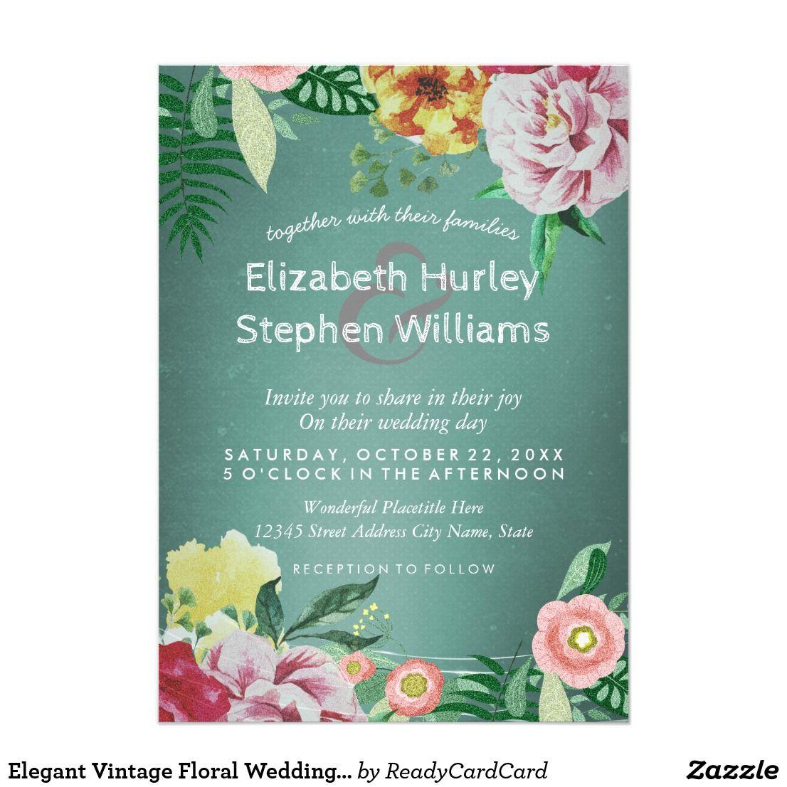 Elegant vintage floral wedding bridal shower card bridal shower