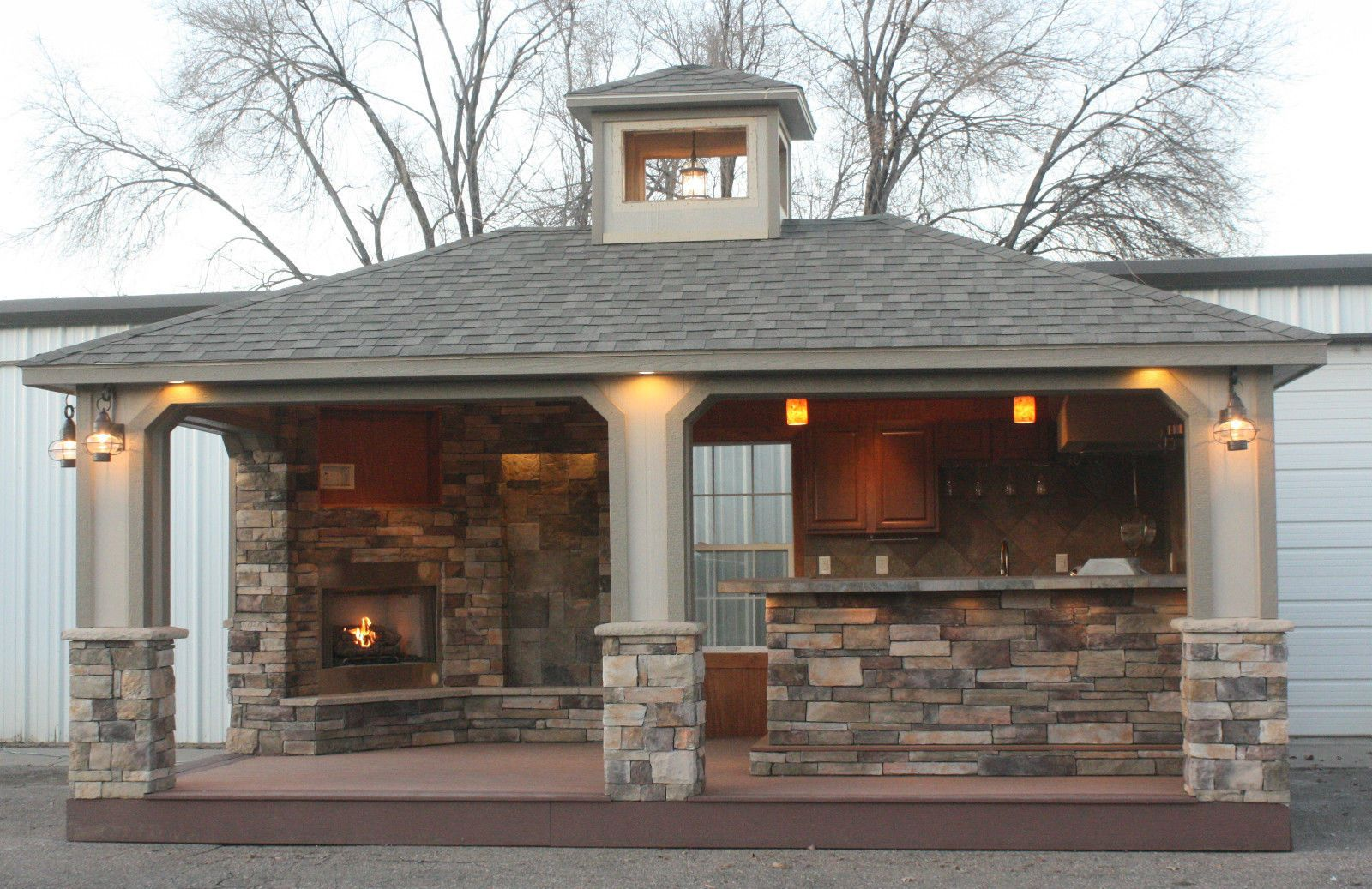 Outdoor Kitchen Sports Bar Built in Grill Outdoor Barbecue ...