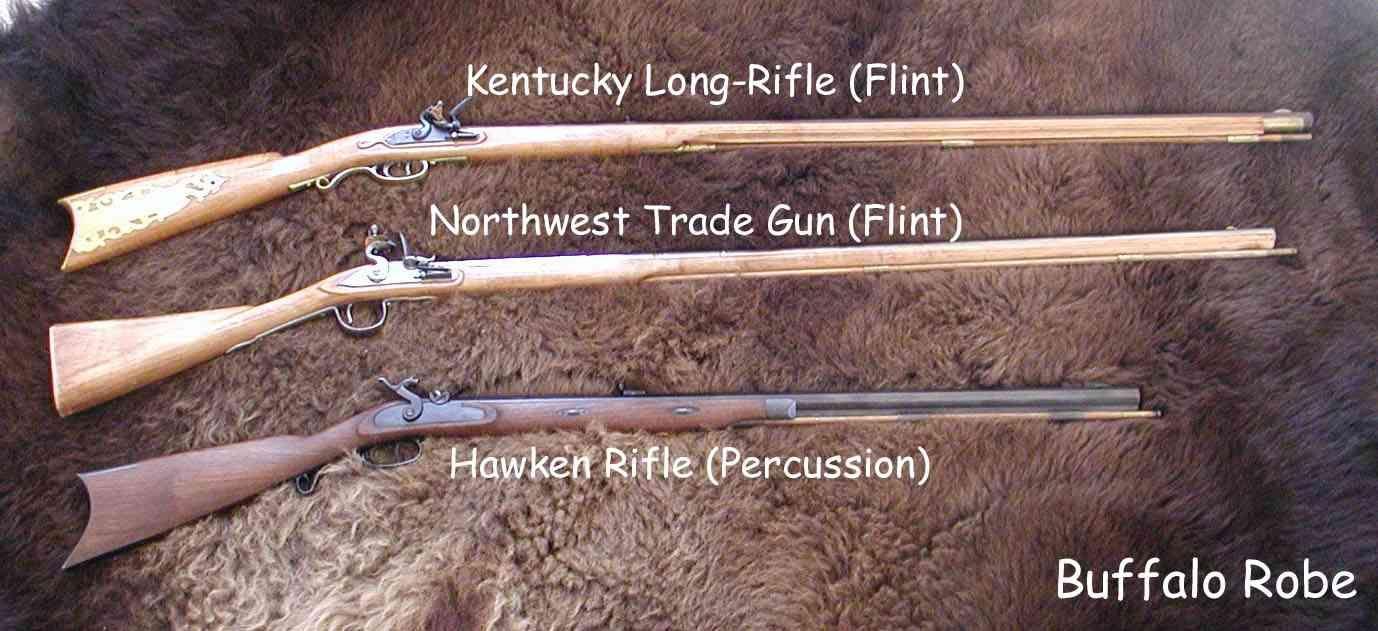 Mountain Man Rifles | Mountainmen | Flintlock rifle, Black