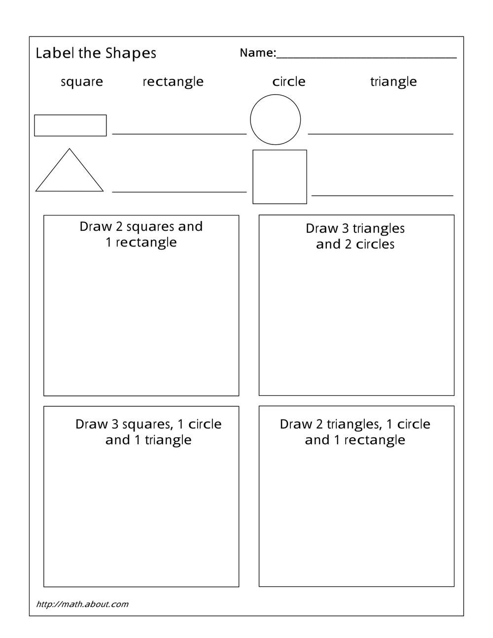 1st Grade Geometry Worksheets For Students Geometry Worksheets Shapes Worksheet Kindergarten Printable Math Worksheets