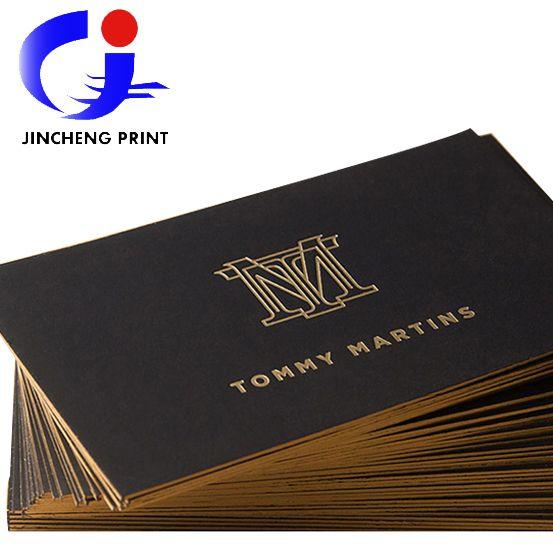 2015 Hot Sale Black Cardboard Luxury Business Card Custom Gold Edge Stamping Debossed Name Cards 700gsm Paper Free Shipp Cards Luxury Business Cards Name Cards