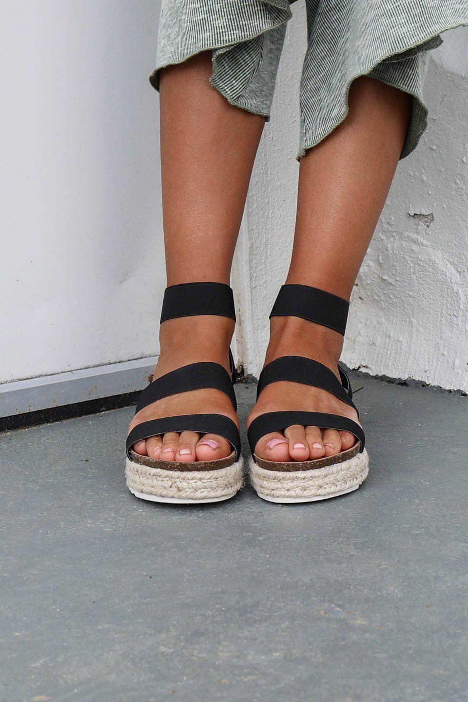 platform black espadrilles