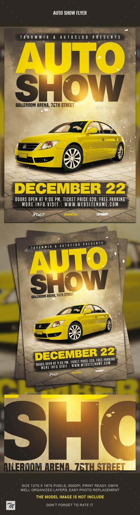 Auto Show Flyer Template Psd Easy Editable Text Event Flyer
