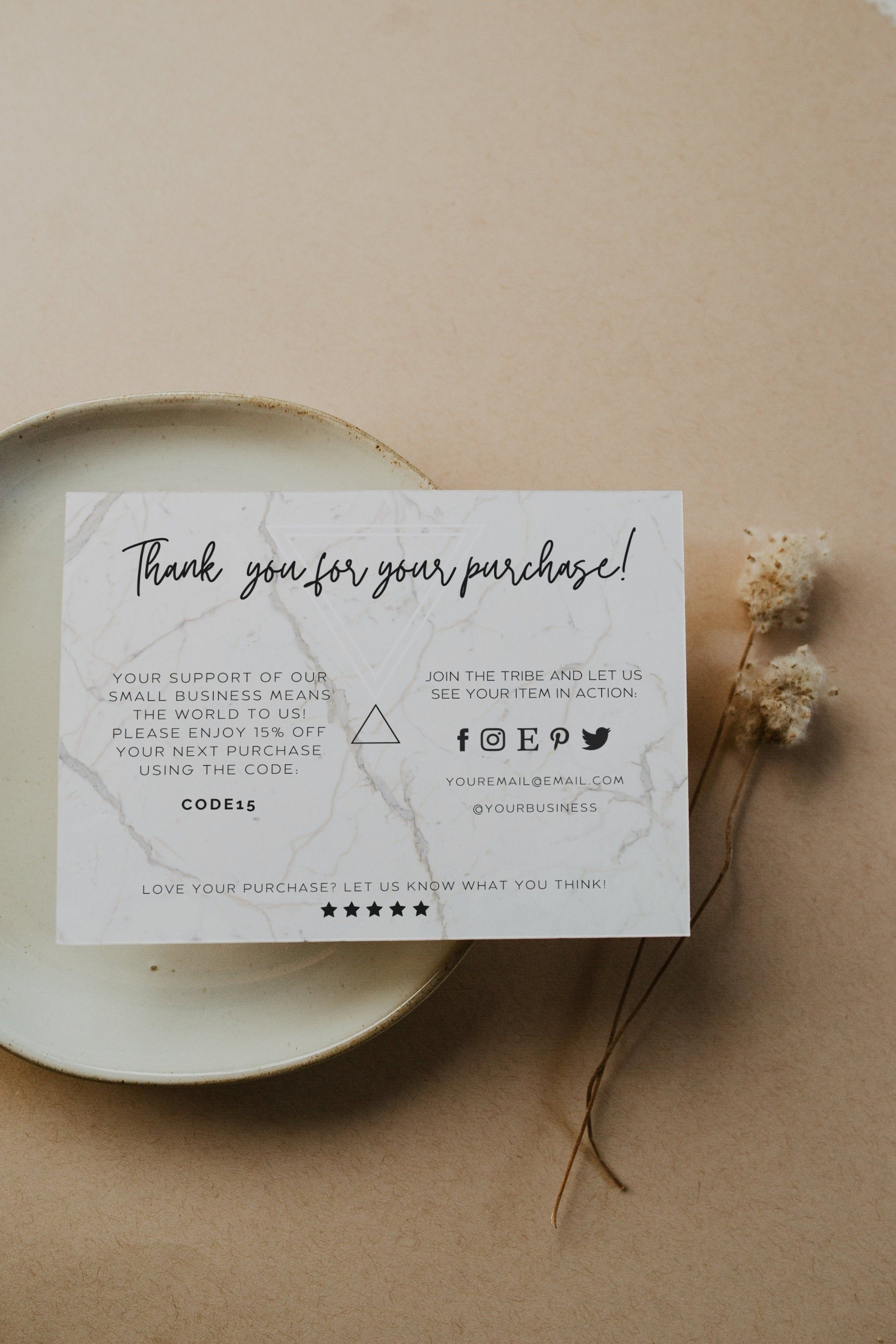 Diy Business Thank You Card Editable Printable Candle Care Card Template Candle Instruction Card Instant Download Ty40 In 2021 Business Thank You Cards Business Thank You Cute Thank You Cards