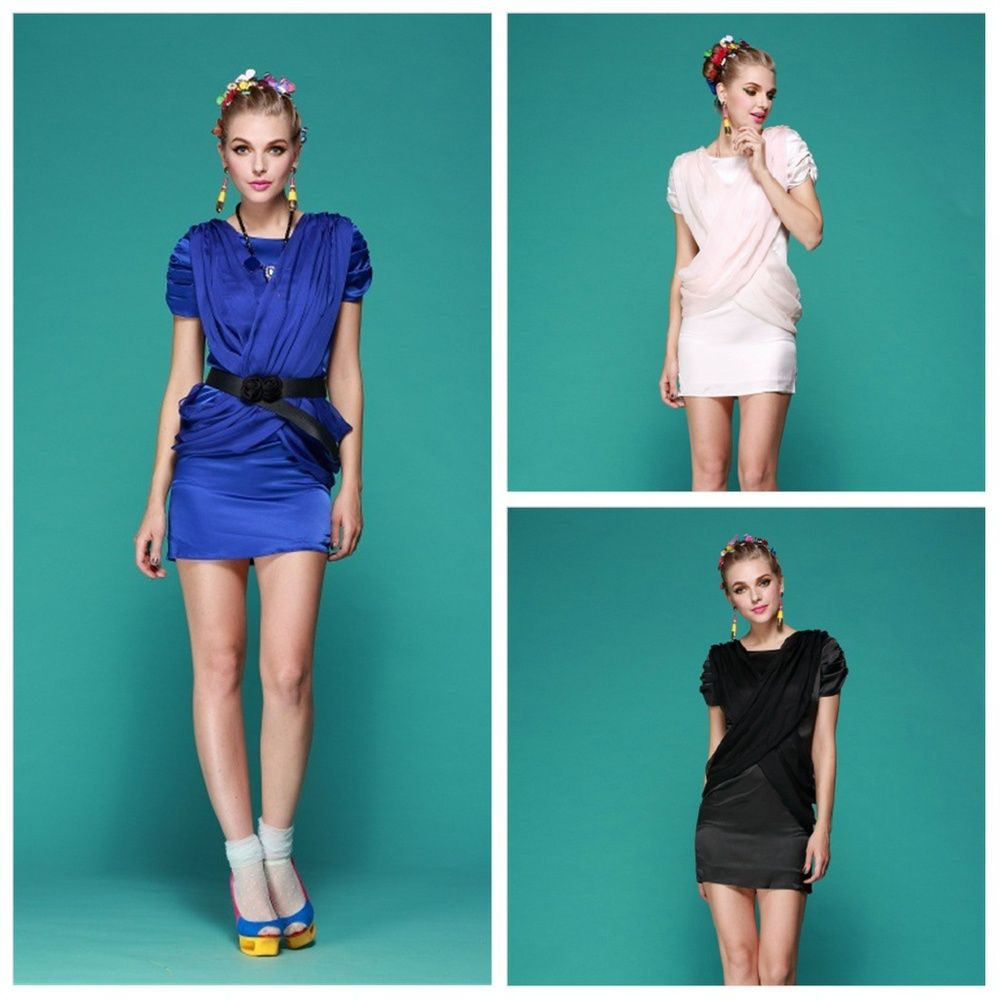 spring summer fashion womenus satin chiffon front and back