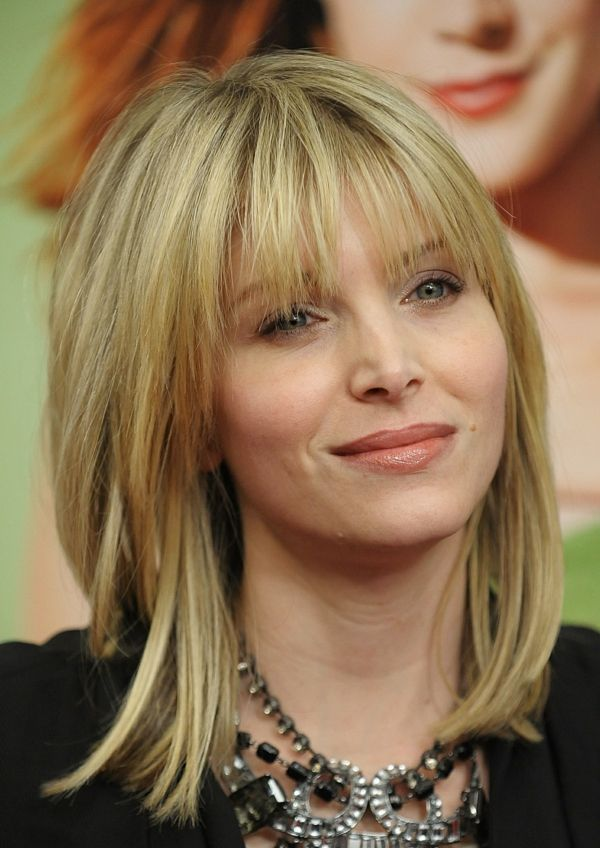 Bangs Faces Medium Hairstyles Round Length