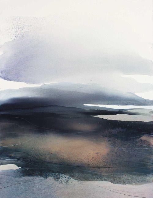 Art Propelled Sabrina Garrasi Aquarelle Landschaften Abstrakte