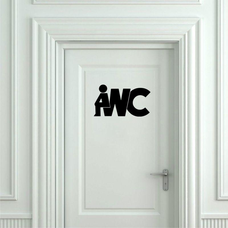 Funny Toilet Door Sign Sticker Vinyl Art Mural Decals Removable Bathroom Decor