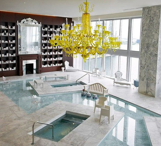 Yellow chandelier indoor pool collection swimming pools yellow chandelier indoor pool aloadofball Gallery
