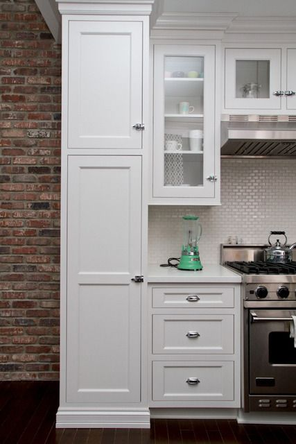 interior brick white kitchen for the home pinterest k che k chen ideen and esszimmer. Black Bedroom Furniture Sets. Home Design Ideas