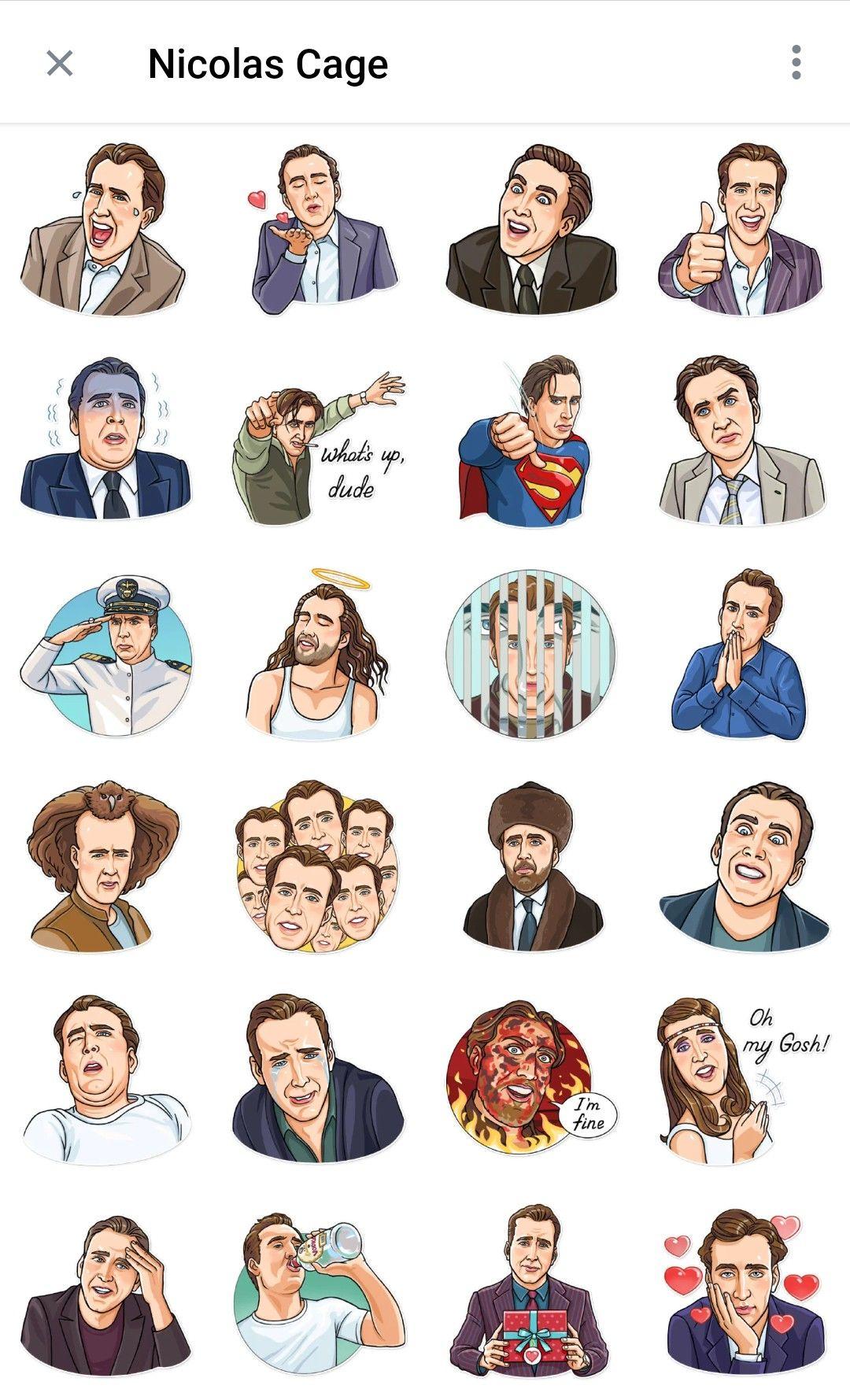 Nicolas Cage Telegram Sticker Packs Telegram Stickers Nicolas Cage Stickers