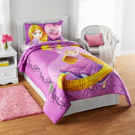Disneys Rapunzel Friends Light Your Way Reversible Twinfull Comforter And Full Sheets You Can Get More Details By C Bed Comforters Comforters Disney Bedding