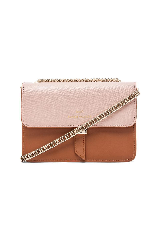 0cede01bc6c1 Karen Walker Juliet Mini Chain Bag in Tan   Blush
