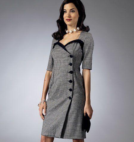 Butterick Schnittmuster 5953 --Muster von Gertie Misses\'Kleid Größen ...