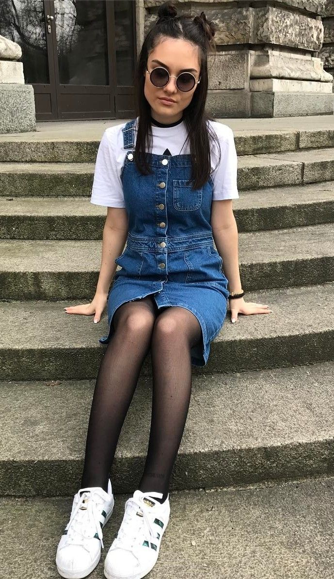 Button Front Strap Denim Overall Dress - #overalls # ...