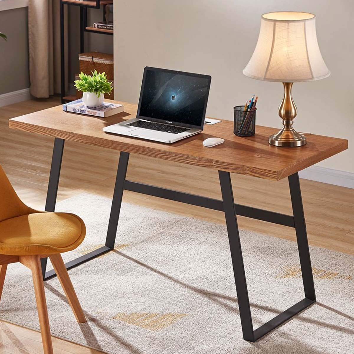 Bon Augure Industrial Computer Desk For Home Office Rustic