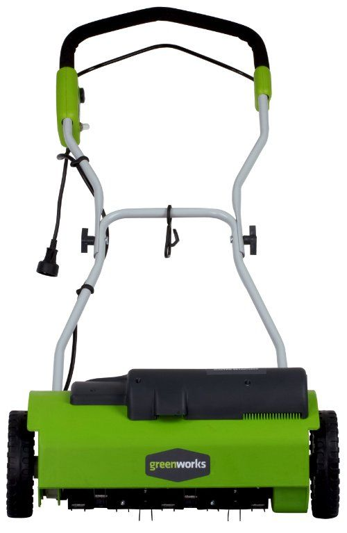 Greenworks 27022 10 Amp 14 Inch Corded Dethatcher Review Greenworks Outdoor Power Equipment Dethatching Lawn