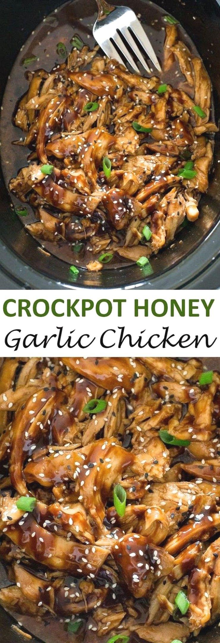 Slow Cooker Honey Garlic Chicken | Crockpot Recipes #healthycrockpotchickenrecipes