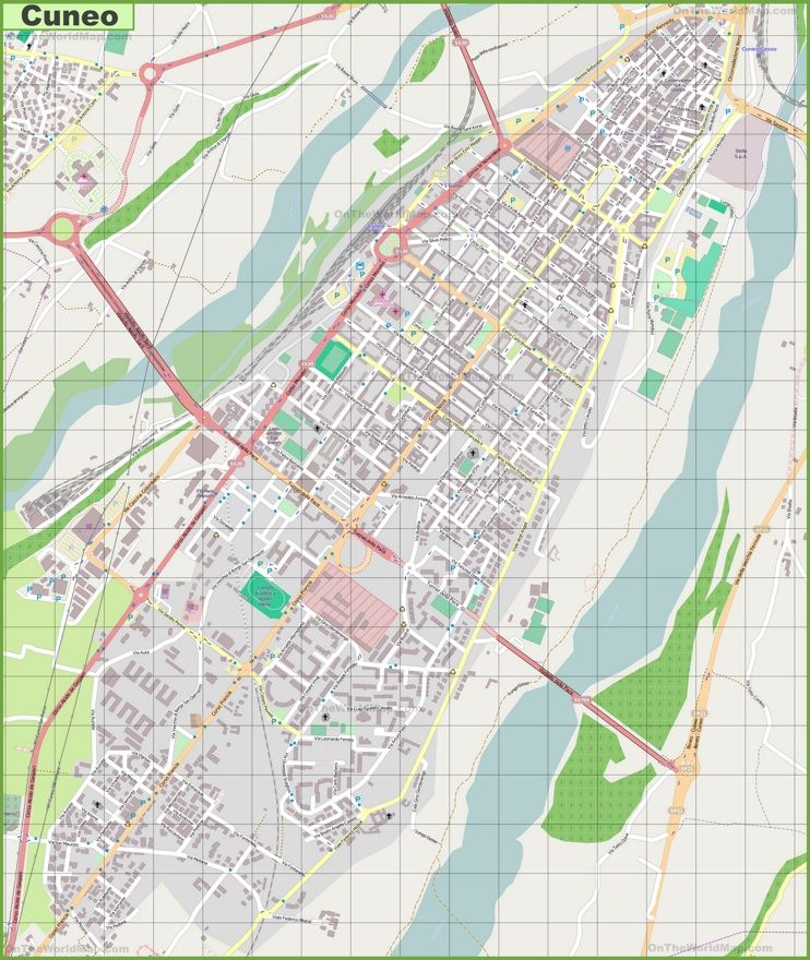 Large detailed map of Cuneo Maps Pinterest Italy and City