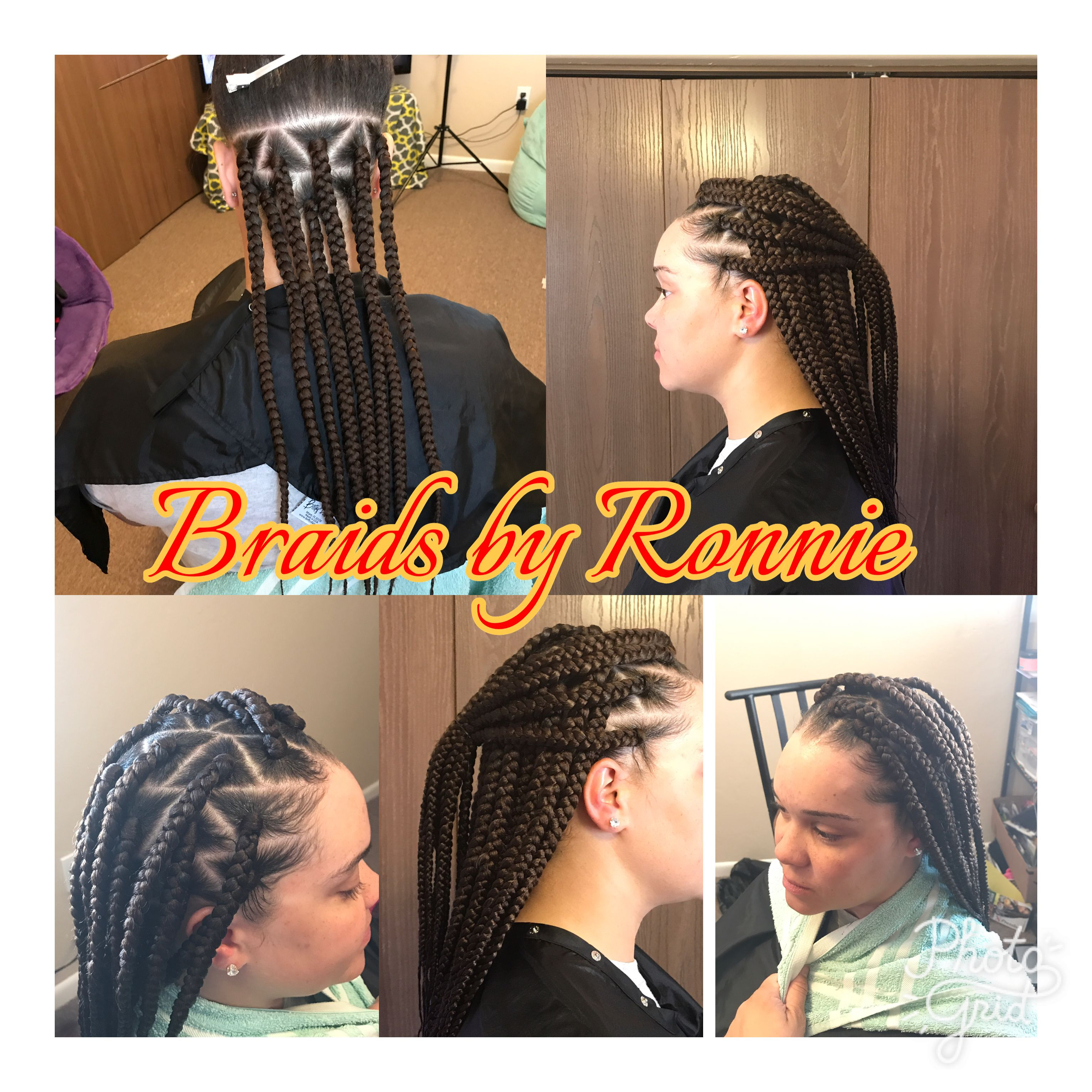 Triangle part box braids braids by ronnie pinterest