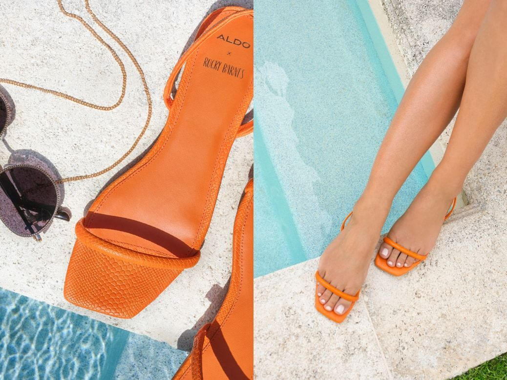 Rb Positano Orange Women S Flats Aldo Us In 2020 Sneaker Heels Womens Flats Shop Sandals