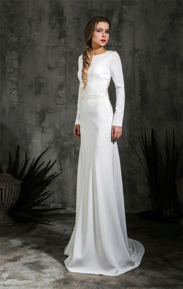 Alicia Rueda Bridal #tznius | Modest (Tznius) Wedding Gowns for the ...