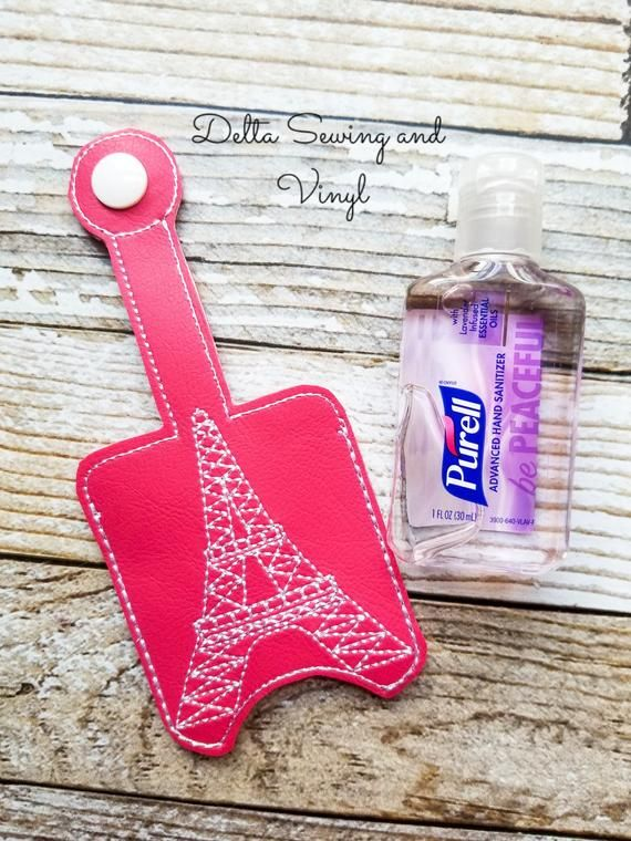 Eiffel Tower Hand Sanitizer Holder Eiffel Tower Keychain Eiffel
