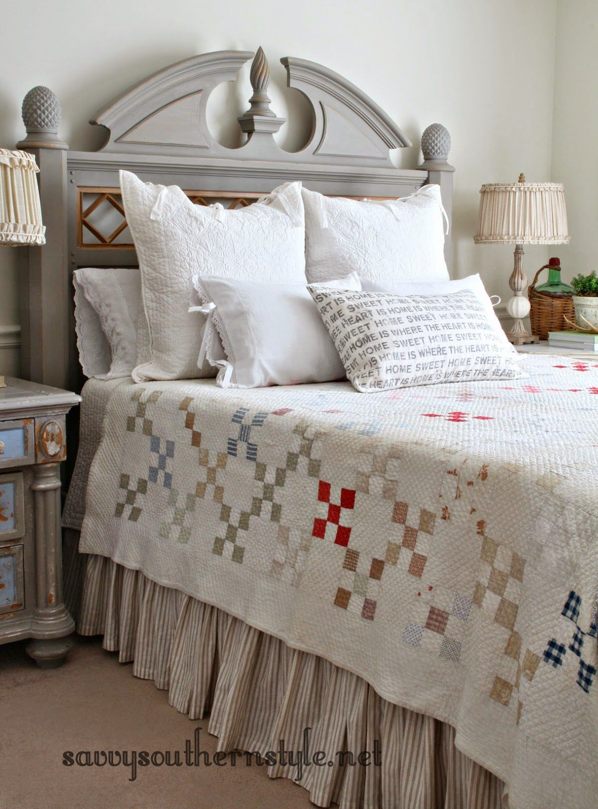 Old Bed New Look French country rug, Old beds, Country decor
