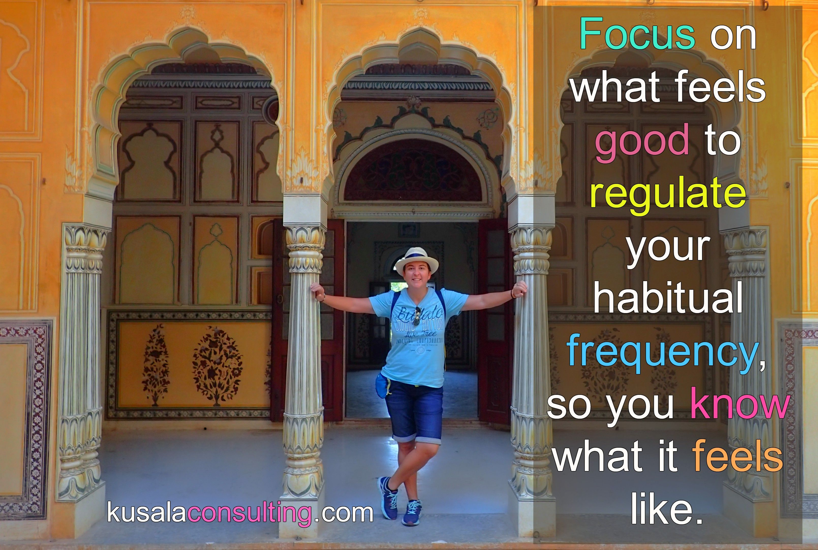 Focus on what feels good to regulate your habitual frequency, so you know what it feels like #focus #frequency #vibration #mindsetconsultant #lifecoach #speaker #author #digitalnomad #remoteliving #travel #srilanka