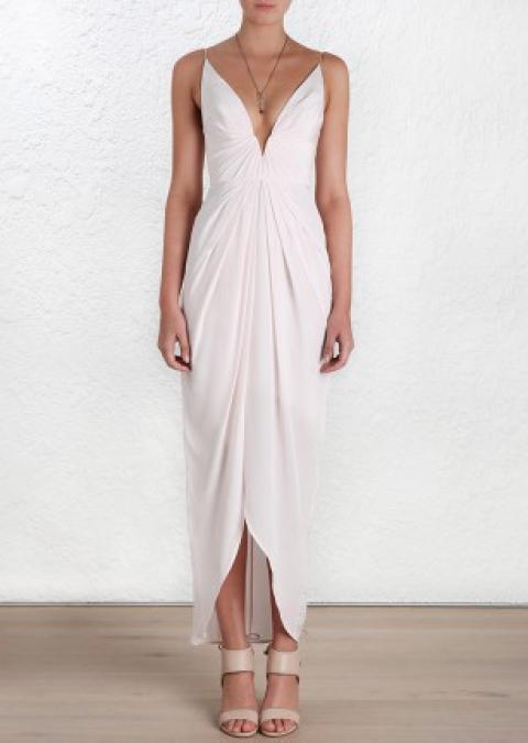 e5e91d1c42b1f Women's Designer Ready To Wear Clothing & Fashion. Zimmermann 'Silk V Tuck  Long Dress' from Zimmermann primary image