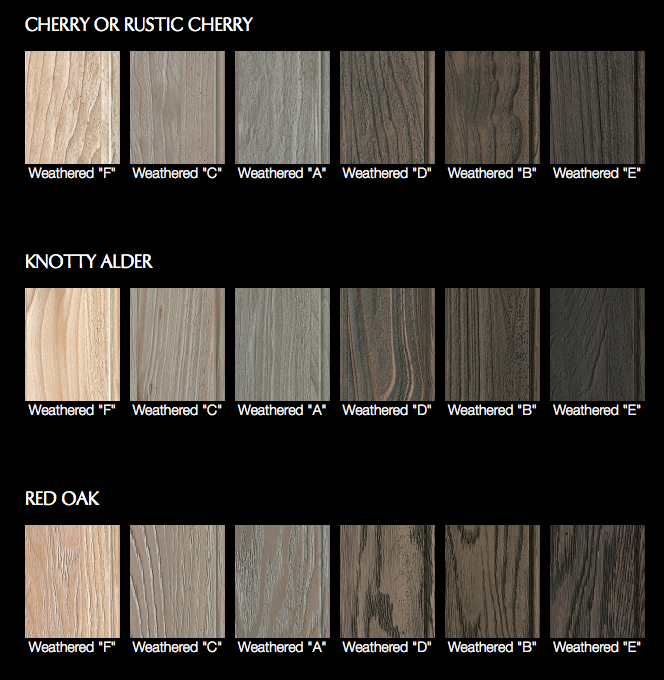 Dura Supreme weathered wood options. | Weathered, It is ...