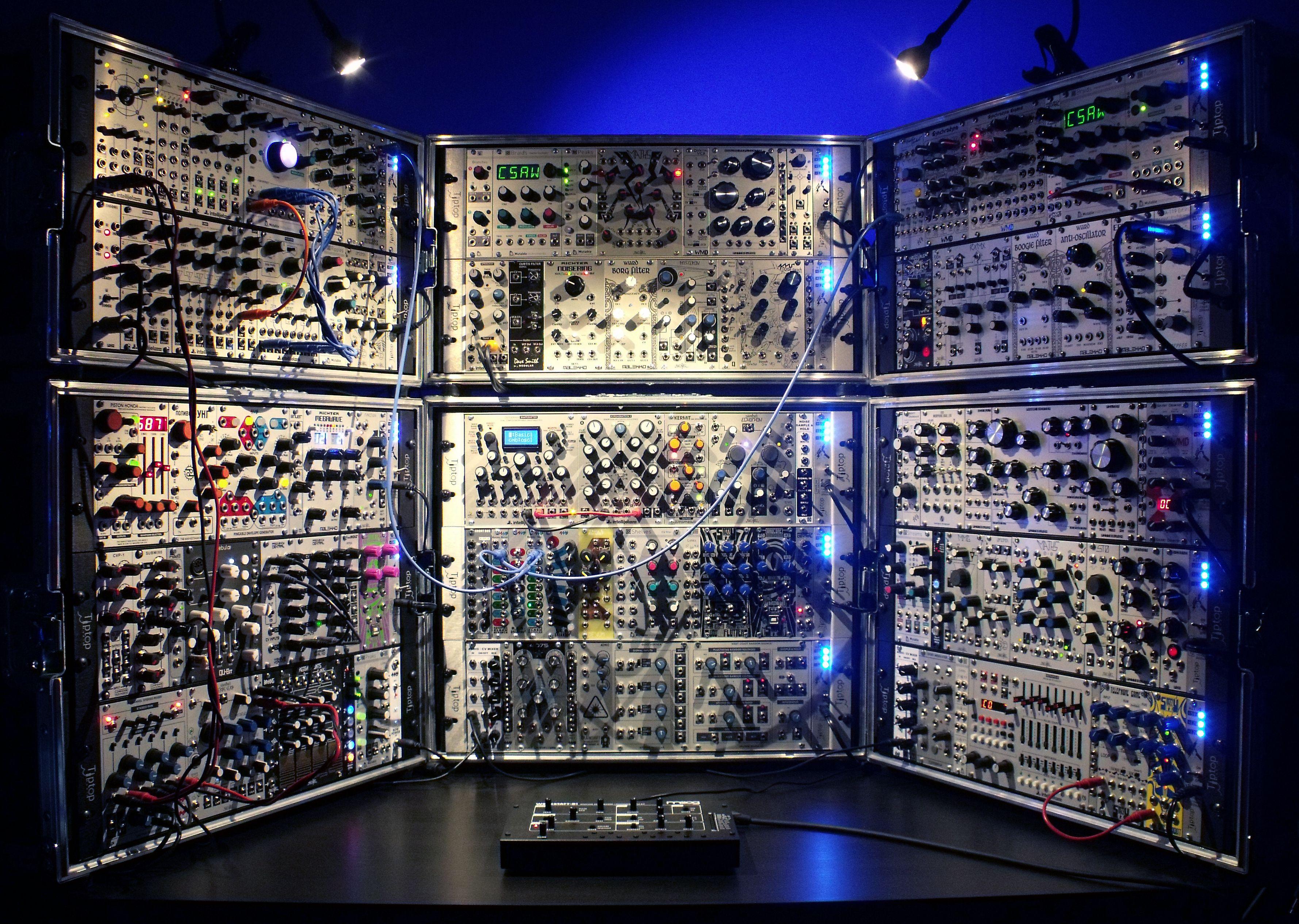 david kristian eurorack modular system 051615 synthesizers modular in 2019 midi. Black Bedroom Furniture Sets. Home Design Ideas