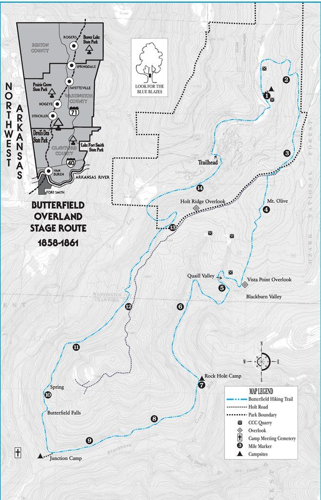 Devils Den Arkansas Map.Trail Map Devil S Den And The Butterfield Trail Get Outside In