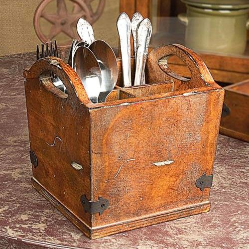 Spoons, knives, and forks, oh, my! This Utensil Carrier makes a grand yet affordable appearance.
