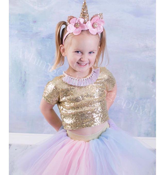 7c855d18167d Beautiful unicorn tutu outfit made for girls by Belle Threads. #unicorndress  #unicorntutu #unicornoutfit
