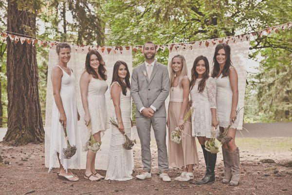 e15b4b746ec Bridesmaids  dresses  Mix of vintage
