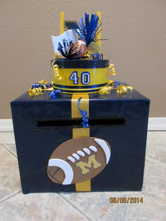 Football Themed Birthday Cardmoney By Lisaspaperparrodise On Etsy