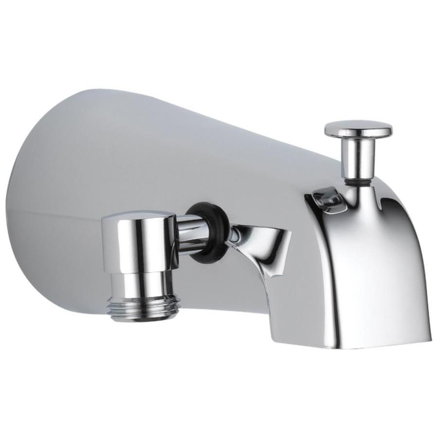 Delta Stainless Steel Bathtub Spout With Diverter Lowes Com Tub Spout Bathtub Spout Shower Diverter