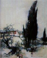 Paysage de Provence par Albert Deman