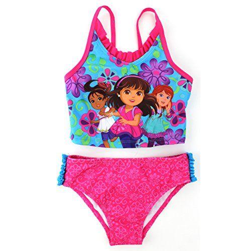 44962fe971325 Dora and Friends Girls Pink Tankini Swimwear (2T) Nickelodeon http://www