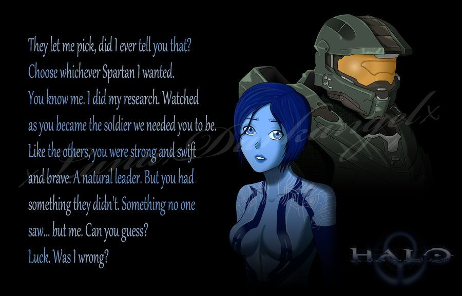Cortana And Chief By Xlunaxdarkangelx On Deviantart Master Chief And Cortana Halo Game Halo Spartan