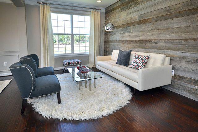Living Room. Wood Wall Https://www.houzz.com/photos