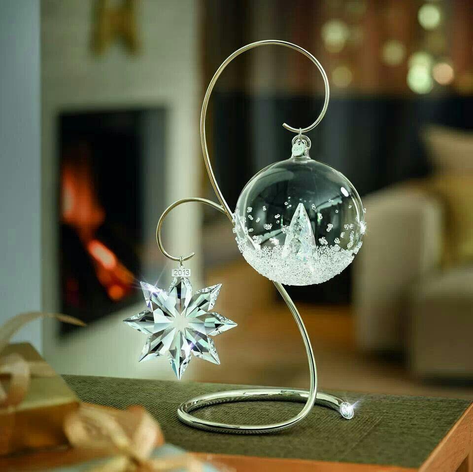 genio Conceder No puedo  Bola navideña de cristal Swarovski | Campanas de navidad, Figuras de cristal,  Cristal de swarovski