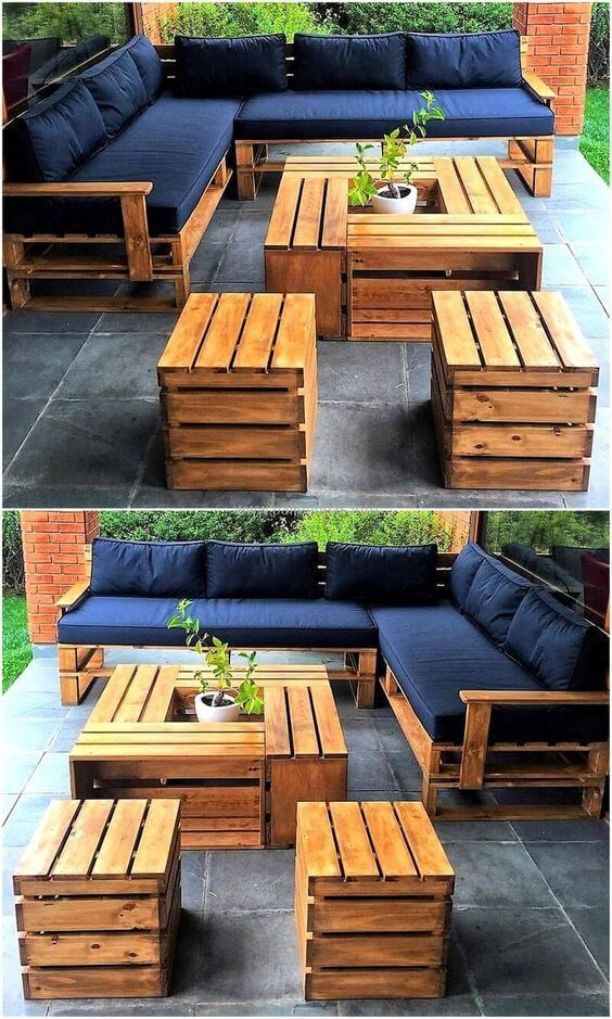 45 Creative DIY Pallet Outdoor Furniture Ideas #diyfurniture