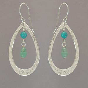 Holly Yashi Suncatcher Earrings - Silver / Green Aventurine