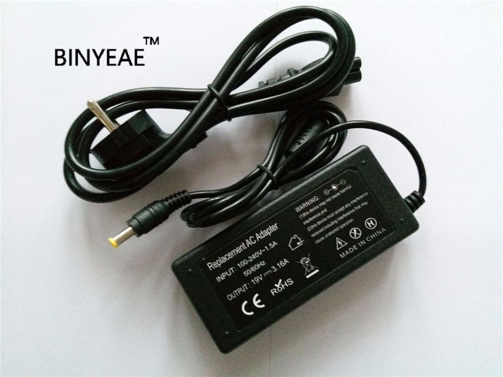 19V 3.16A 60W AC Power Adapter Charger for Samsung sens630