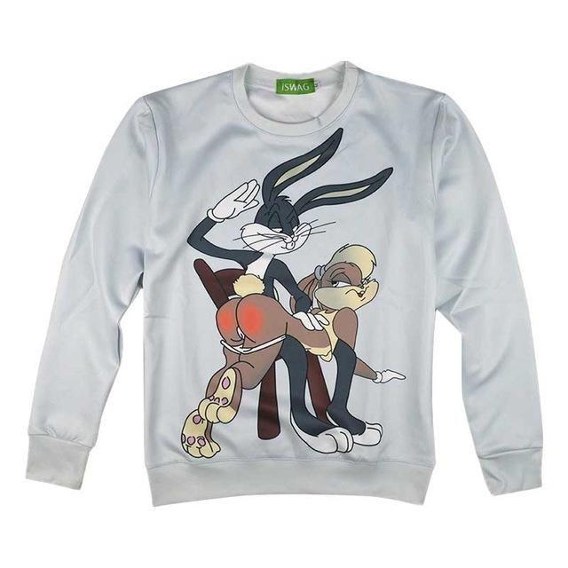 8f7025fd7a858 Bugs Bunny Punishment Tshirt Fashion 3D Cartoon Hoodies