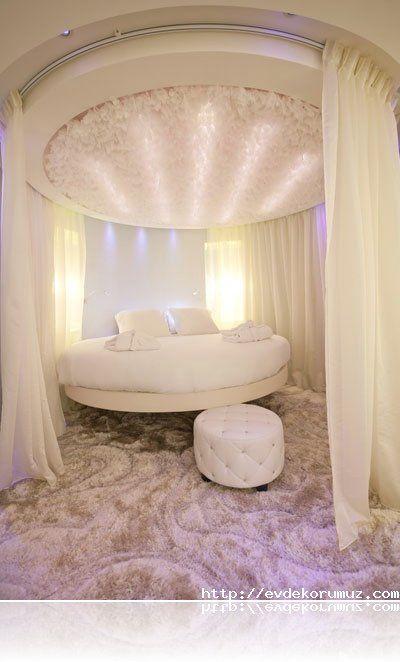 Romantik Cibinlikli Yuvarlak Yatak ev dekor Pinterest - grandiose und romantische interieur design ideen