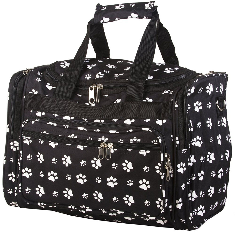 4f300c974c6b World Traveler Black White Paw Prints Duffle Bag 16-inch * Amazing ...