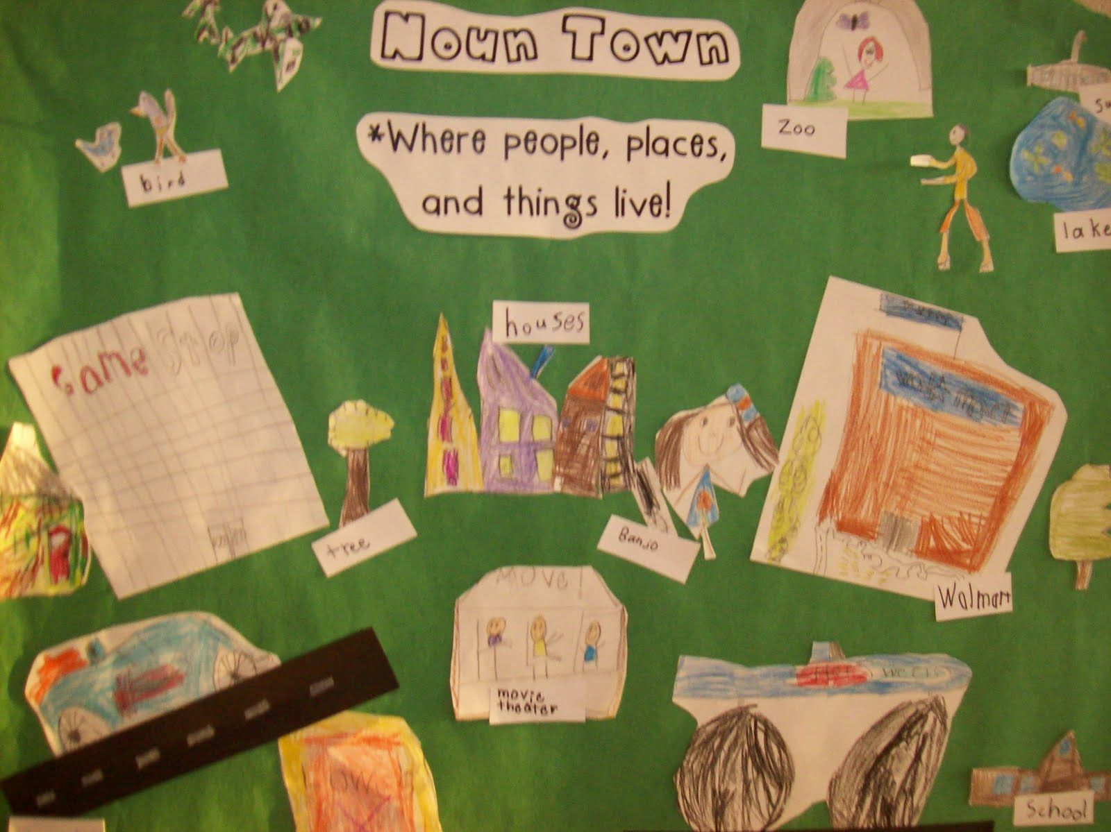Noun Town Where People Places And Things Live